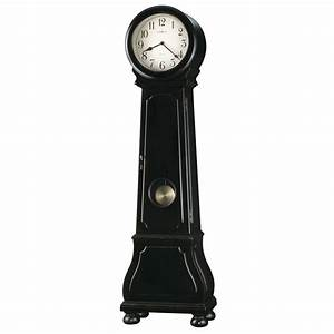 Howard Miller Nashua Distressed Black Floor Clock 615005