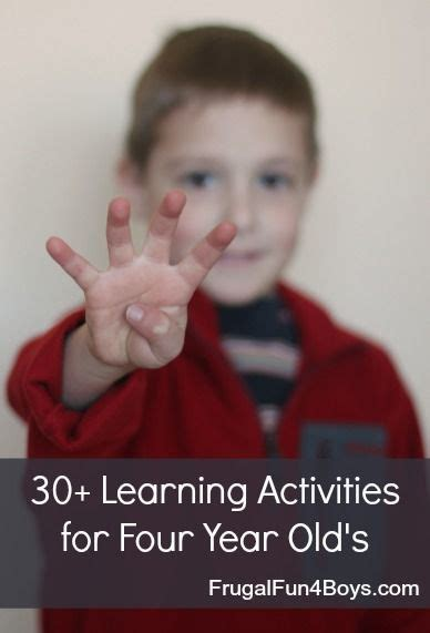learning activities for four year olds motor 4