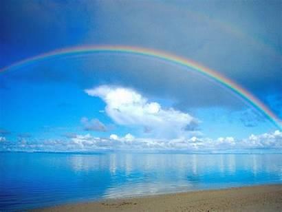 Rainbow Desktop Background Nature Ocean Water Colorful