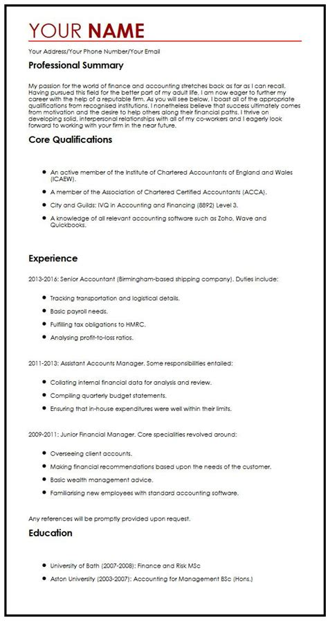 cv sle with a personal statement curriculum vitae builder