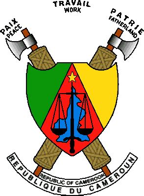 The state symbolics of the Republic of Cameroon. Flags ...