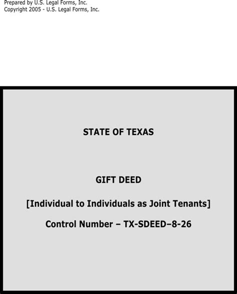 gift deed form texas download state of texas gift deed for free formtemplate