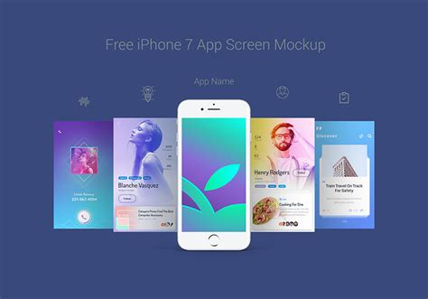 free app for iphone free apple iphone 7 app screen mockup psd