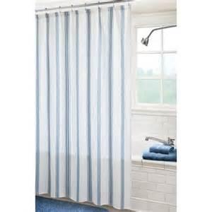 canopy fresh stripe shower curtain indigo blue and