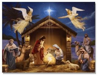 lighted canvas nativity contemporary prints