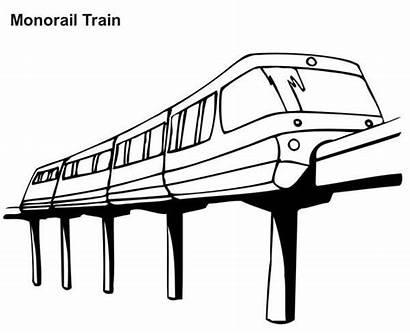 Train Coloring Monorail Trains Colorluna Rocks Speed