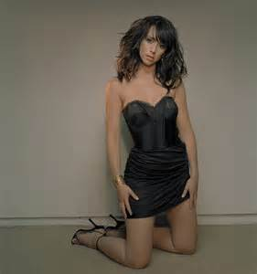 Black in lingerie model
