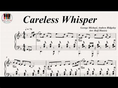 Looking into the free careless whisper piano sheets, we see that the instruments included in the song are mainly saxophone riff, backing vocals, bass, drums you can use the free careless whisper piano sheet music that you can find on our website in order to play it at your piano at home. Careless Whisper - George Michael, Piano - YouTube   Piano youtube, Piano music, Sheet music