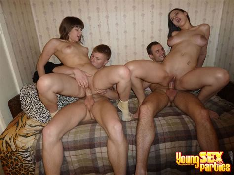 Cuties Stand In Different Positions During Young Sex Party Ass Point