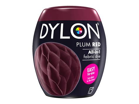 Dylon Pod Machine Dye   Plum Red   Coloured Dyes