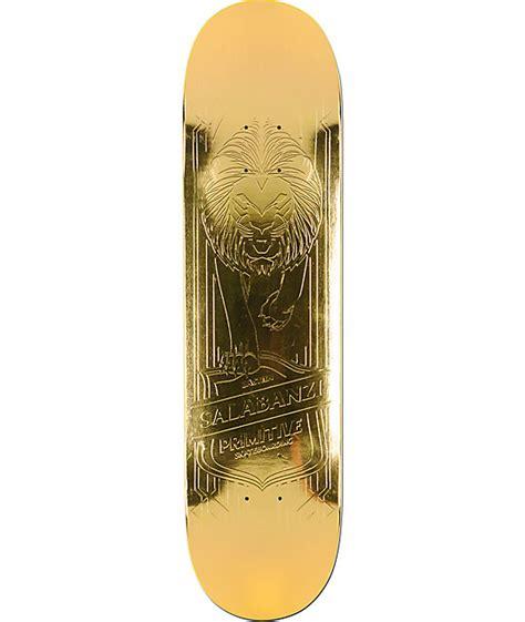 "Primitive Salabanzi Gold Lion 78"" Skateboard Deck At"