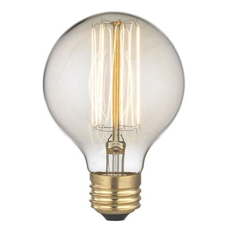 globe light bulbs nostalgic edison carbon filament g25 globe light bulb 60