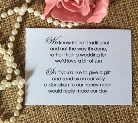 details    wedding gift money poem small cards