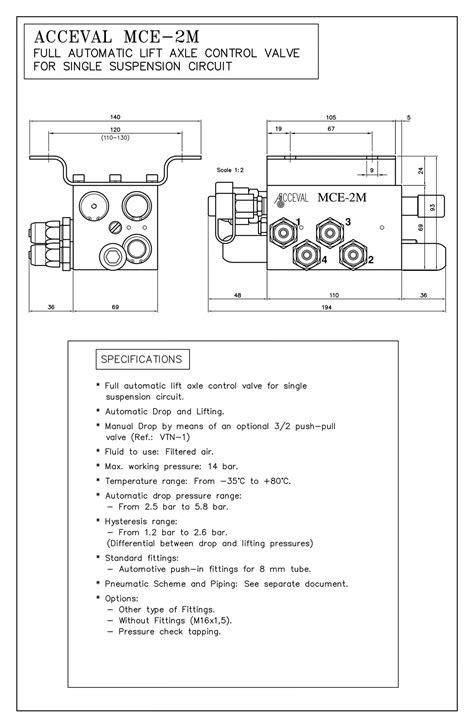 MCE-2M - Lift axle control valve - Lift Axle System