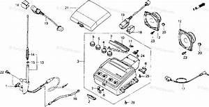 Honda Motorcycle 1992 Oem Parts Diagram For Radio  I