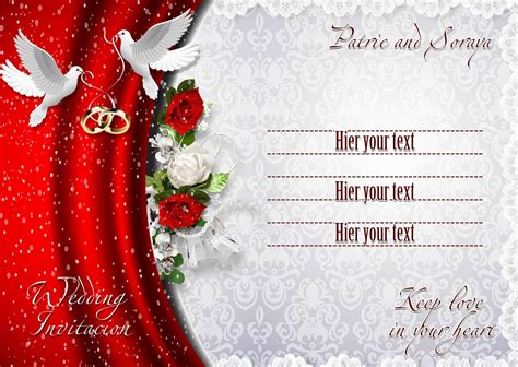 Information About Wedding Invitation Background Designs Red