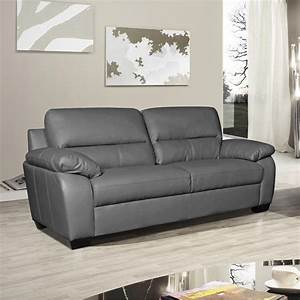 Artena high backed slate grey leather sofa collection for Gray leather sofa