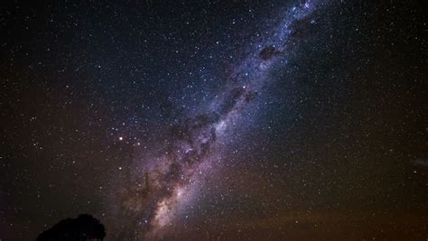 Star Time Lapse Milky Way Galaxy Moving Across The Night