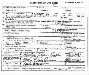obama39s real birth certificate found obama birthplace With real birth certificate template