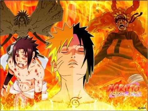 Sasuke Vs Naruto Hd Image Wallpaper For Macbook