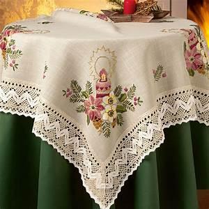 Tischdecke Mit Spitze : tischw sche oder kissen mit makramee spitze ~ Lizthompson.info Haus und Dekorationen