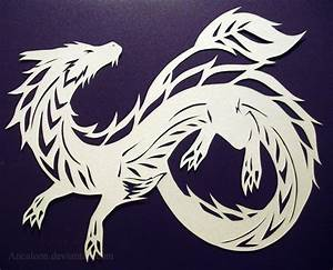 papercutting dragon by ancaleon on deviantart With chinese paper cutting templates dragon