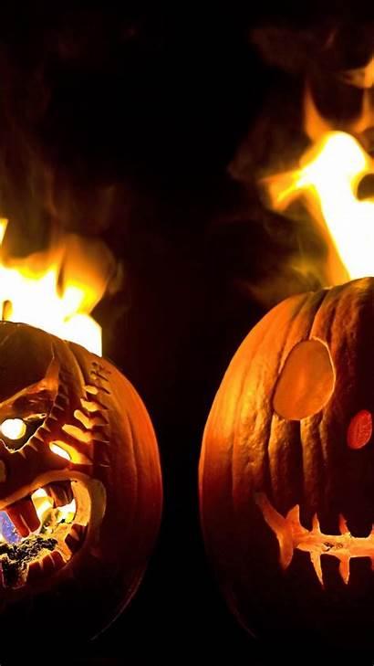 Halloween Android Background Pumpkin Fire Pumpkins Scary