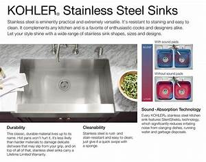 Kohler Vault Dual Mount Stainless Steel 33 In  4