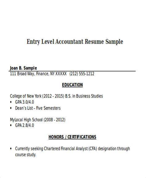 accountant resumes    premium templates