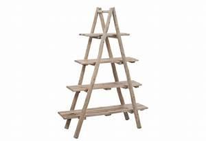 étagère échelle Bois : etag re chelle 4 planches en bois naturel j line by jolipa jl 75943 ~ Teatrodelosmanantiales.com Idées de Décoration
