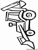 Quiet Coloring Pages Bulldozer sketch template