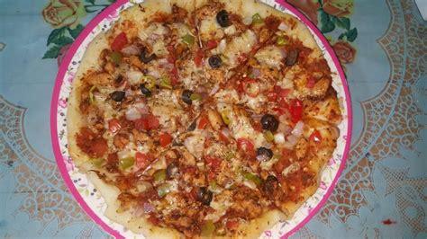 hot spicy chicken pizza recipe  king kitchen youtube