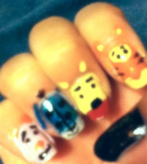 nails winnie  pooh pooh hair  beauty pinterest