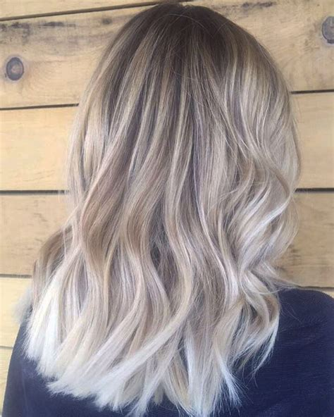 Ash Hairstyles Medium Hair by Balayage Hair Idea Ash Hair Color