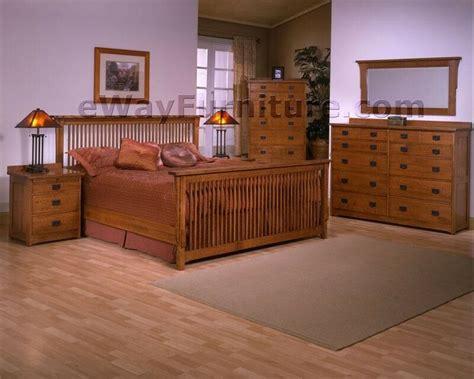 Mission Queen Bed Bedroom Set Solid Rift & Quarter Sawn