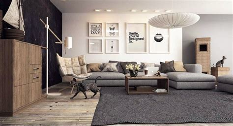 salon canapa noir daco bois déco salon gris avec canapé tout confort 55 idées pour vous