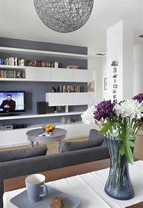 Beste Weiße Wandfarbe : 29 ideen f rs wohnzimmer streichen tipps und beispiele ~ Sanjose-hotels-ca.com Haus und Dekorationen