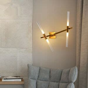 2 4 lights led glass branch wall l lining room bedroom wall light deco ebay
