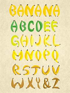 banana font on behance With banana letters