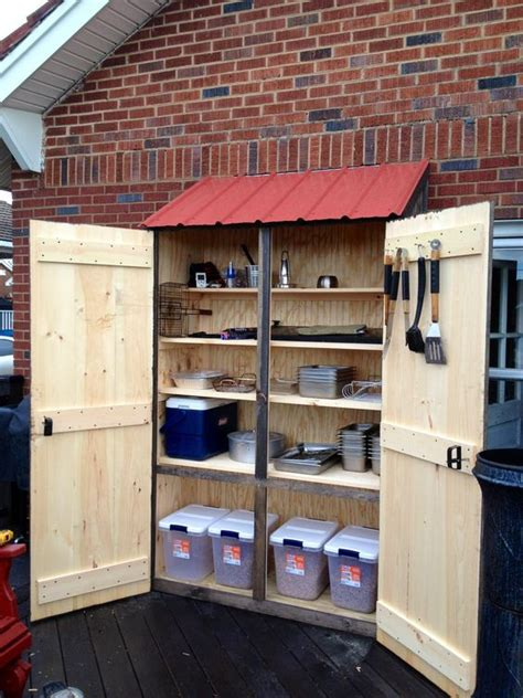 outdoor storage cabinet ideas outdoor cabinet for grilling supplies my crafts