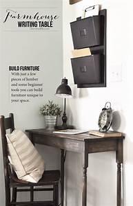 DIY Farmhouse Writing Table Free Plans Cherished Bliss