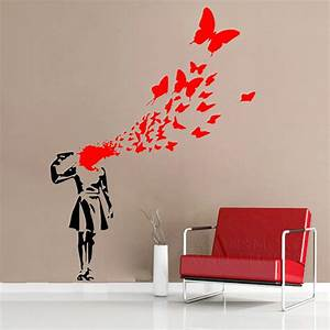 creative wallpaper for walls home design With kitchen cabinet trends 2018 combined with purple butterfly sticker