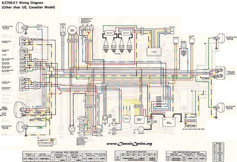 1983 Kawasaki Wiring Diagram by Kawasaki Motorcycle Wiring Diagrams