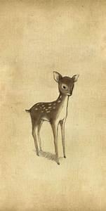 Baby deer- great art for baby room   Baby room   Pinterest ...