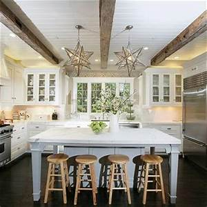 Beadboard Ceiling With Wood Beams Design Ideas