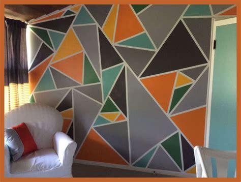 ️Como DECORAR tus paredes con triángulos pintados ️