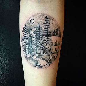 27 Awesome Picturesque Landscape Tattoo Designs - Sortra