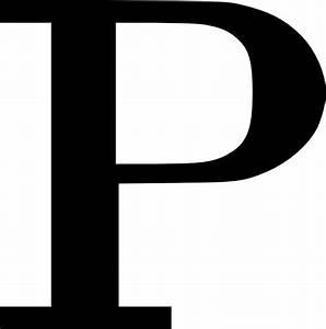 cyrillic letter p clip art at clkercom vector clip art With big letter p