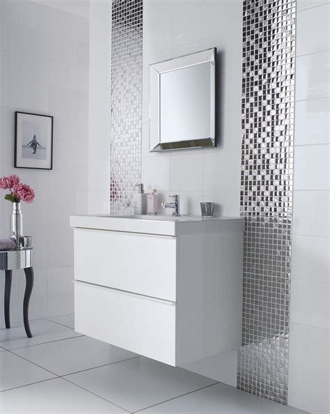 wall tiles bathroom ideas silver bathroom mirror large white tile bathroom white