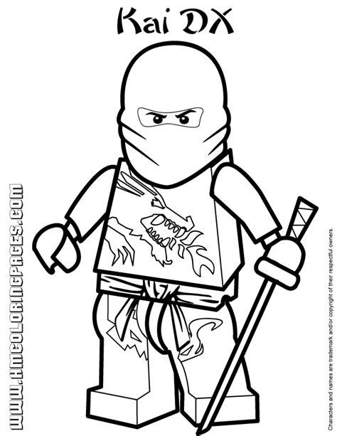 coloring pages ninjago kai   coloring